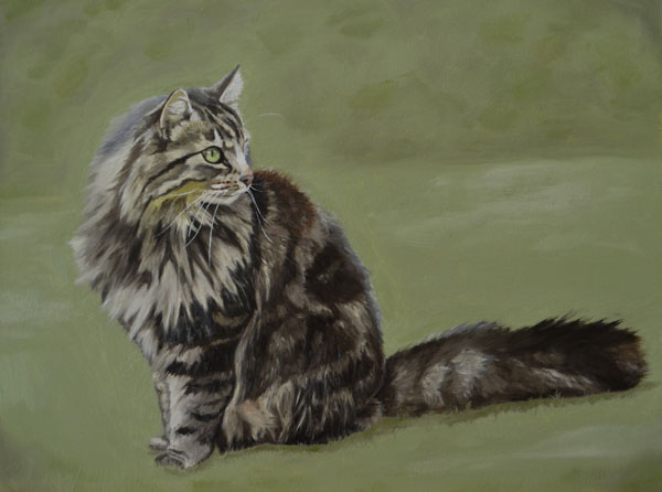 Betsy cat oil painting