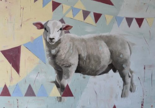 Best In Show - Oil Painting Of A Sheep