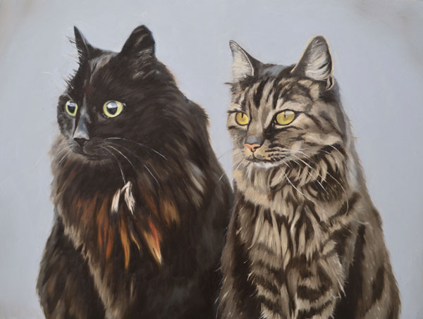 Oil Painting Of Marmite And Fudge