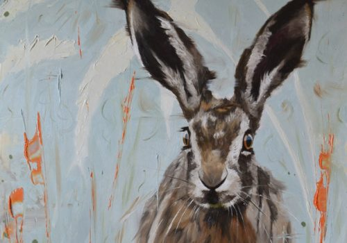 Wild Youth - Oil Painting Of A Leveret