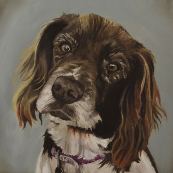 Molly oil painting