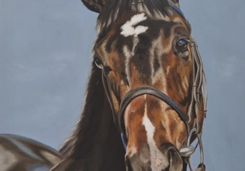Horse Portrait In Oils Of Cool Sky