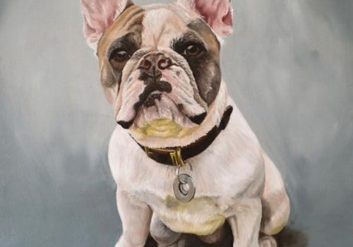 French Bulldog Oil Painting Dog Portrait