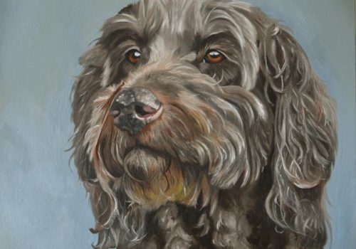 Labradoodle Oil Painting Dog Portrait