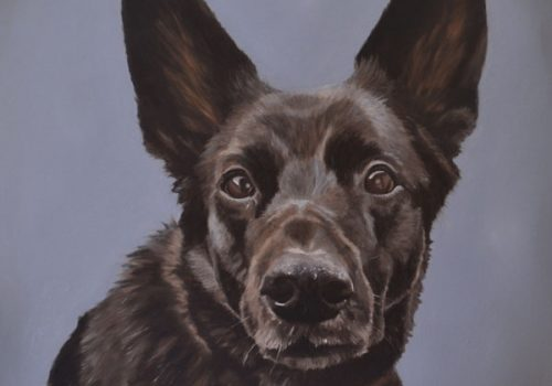 Ruby - Alsatian Oil Painting